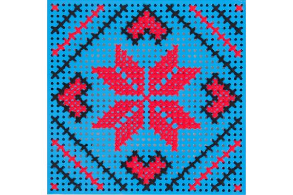 Panou Decorativ Albastru Steaua in Opt Colturi