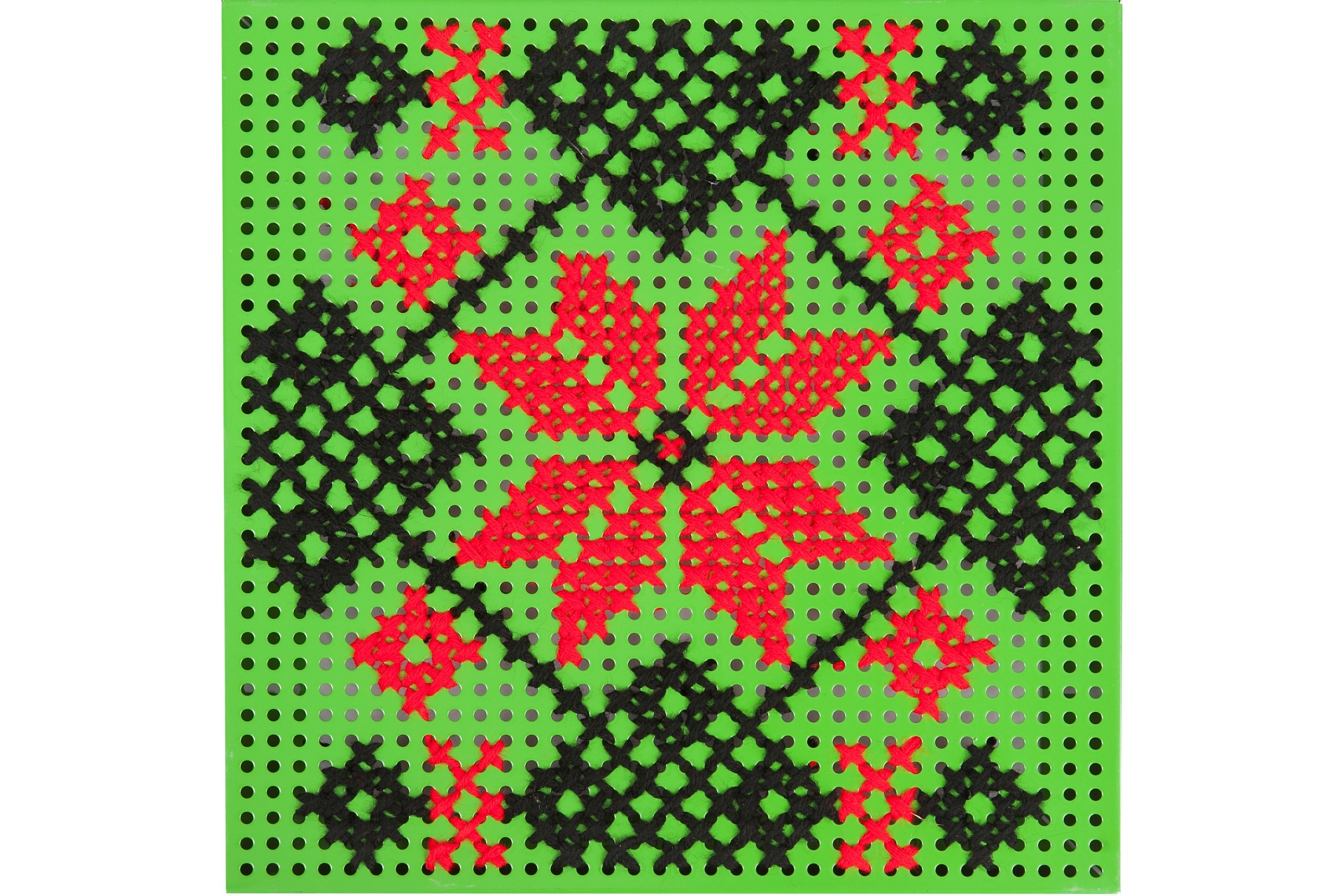 Panou Decorativ Verde Steaua in Opt Colturi